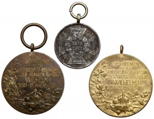 Prusy, zestaw medali i odznaczeń (3szt)
