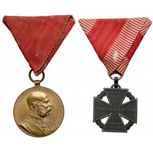 Austro-Węgry, Franciszek Józef I, zestaw odznaczeń (2szt)