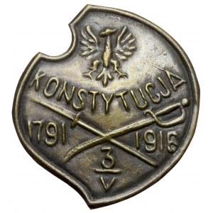 Znaczek KONSTYTUCJA 1791 3/V 1916