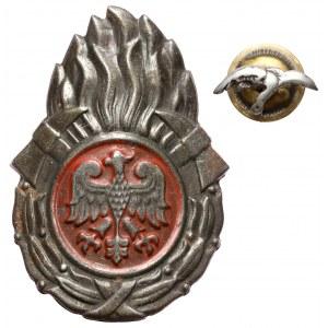 Miniaturka Znaku Pilota i Odznaka Straży Pożarnej