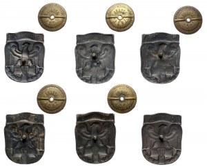 Odznaki Szkół Oficerskich PRL (6szt)
