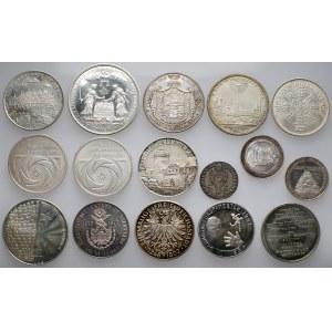 SREBRO, repliki monet / medale, fine Ag 288g+ (16szt)