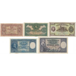 Lithuania - set of 5 banknotes 1927-1929