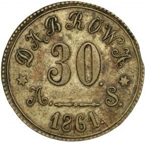 Dąbrowa, Żeton o nominale 30 kopiejek 1861