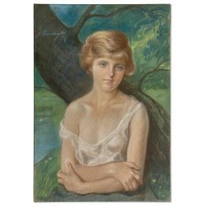 Unierzyski Józef (1863-1948), Portret dziewczyny