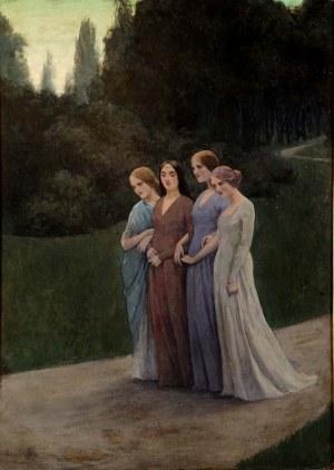 Mieczysław Reyzner (1861 Lwów - 1941 Lwów), Pieśń wieczorna (Powrót z komersu), 1913