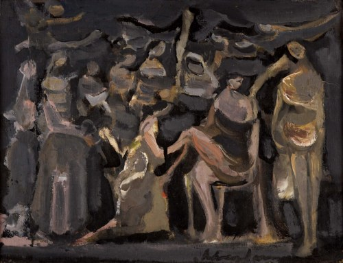 Alfred Aberdam (1894 Lwów - 1963 Paryż), Kompozycja figuralna, 1953