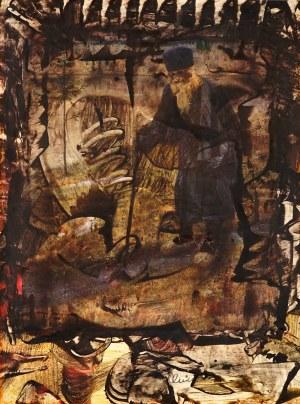 Alfred Lenica (1899 Pabianice - 1977 Warszawa), Kompozycja z postacią