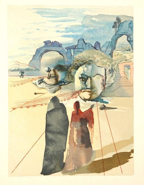 Salvador Dalí (1904 Figueras, Hiszpania - 1989 Figueras, Hiszpania), Czyściec, Pieśń XX, z cyklu: Dante, Boska Komedia, 1951-60