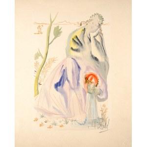 Salvador Dalí (1904 Figueras, Hiszpania - 1989 Figueras, Hiszpania), Czyściec, Pieśń XXI, z cyklu: Dante, Boska Komedia