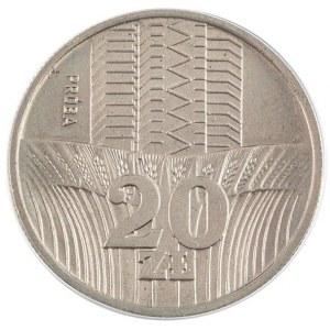 20 zł, Wieżowce i kłosy zboża, próba, 1973