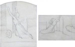 Artur GROTTGER (1837-1867), Pobór w nocy, z cyklu: Polonia - studium kompozycji do litografii