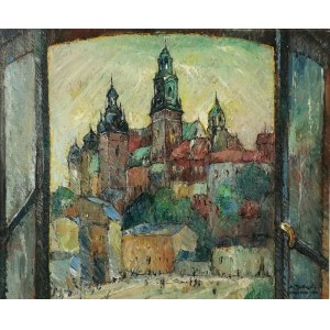 Mieczysław RAKOWSKI (1882-1947), Zamek Królewski z mojego okna (Stary Kraków), 1931
