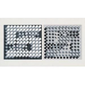 Krystyn ZIELIŃSKI (1929-2007), Dyptyk czarno-biały, 1990