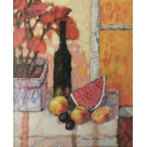 Adam MARCZUKIEWICZ (ur. 1958), Martwa natura z arbuzem, 2000