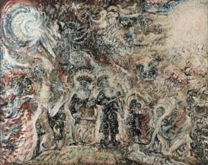 Zdzisław LACHUR (1920-2007), Scena żydowska, 1978