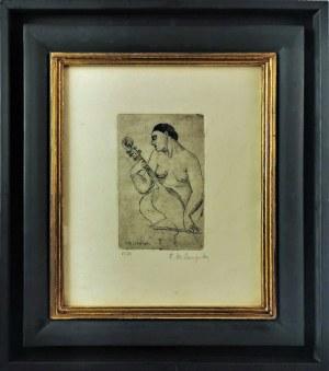 Tamara ŁEMPICKA (1898-1980), Akt z wiolonczelą