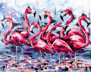 Jose Angel Hill, Flamingi