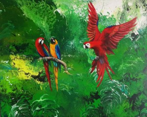 Patrycja KRUSZYŃSKA-MIKULSKA, Parrot paradise, 2020 r.