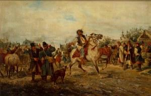 Ludwik Gędłek (Kraków 1847 - Wiedeń 1904), Targ na Starym Kleparzu