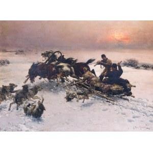 Alfred Wierusz-Kowalski (1849 Suwałki - 1915 Monachium), Napad wilków