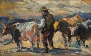Fryderyk Pautsch (1887 Delatyn - 1950 Kraków), Hucuł na połoninie