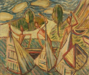 Maria Jarema (1908 Stary Sambor - 1958 Kraków), Bez tytułu, lata. 40. XX w.