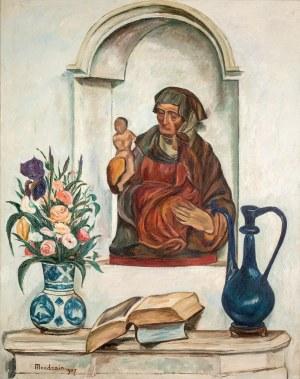 Szymon Mondzain (1888 Chełm - 1979 Paryż), Martwa natura z Madonną, 1927 r.