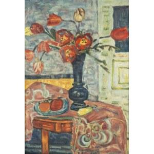 Hanna Rudzka Cybisowa (1897-1988), Martwa natura z tulipanami, l.30-ste XX w.