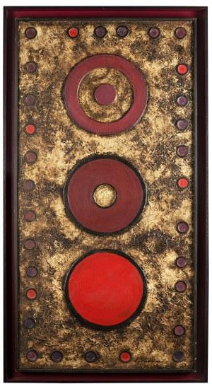 Lech Kunka (1920 Pabianice - 1978 Łódź), Kompozycja reliefowa