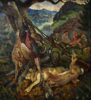 Fryderyk Pautsch (1877-1950), Po polowaniu - Martwa natura myśliwska, 1932