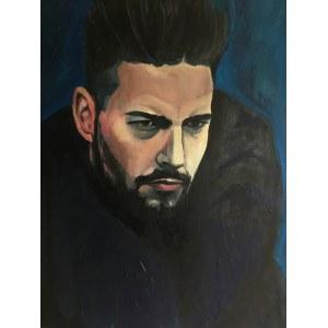 Tomasz Kokott, Granatowy portret, 2019