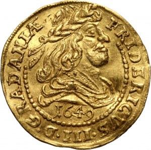 Denmark, Frederik III, Ducat 1649, Copenhagen