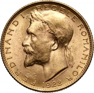 Romania, Ferdinand I, 20 Lei 1922, London