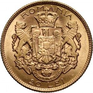 Romania, Ferdinand I, 20 Lei 1922, London