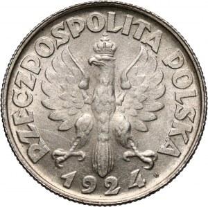 II RP, 2 złote 1924 H, Birmingham, Żniwiarka