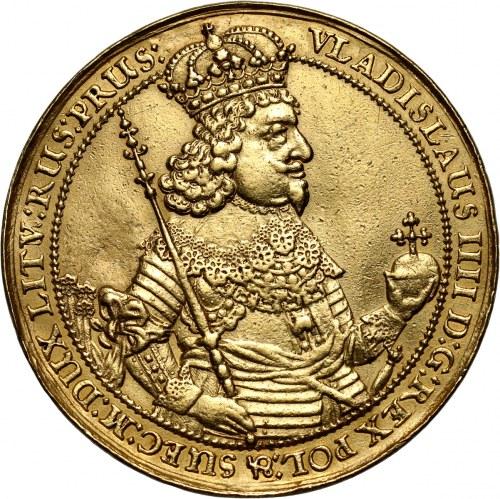 Władysław IV Waza, 10 dukatów 1644, Gdańsk, donatywa z panoramą miasta