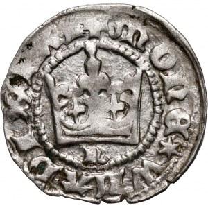 Władysław Jagiełło 1386-1434, półgrosz, Kraków, sygnatura N