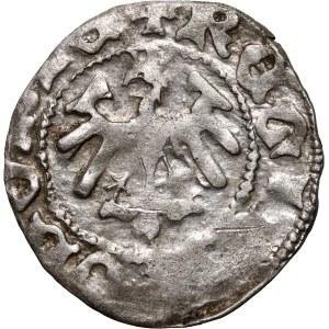 Władysław Jagiełło 1386-1434, półgrosz, Kraków, sygnatura O