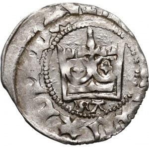 Władysław Jagiełło 1386-1434, półgrosz, Kraków, sygnatura SA