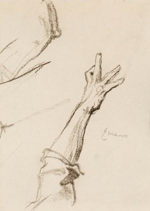 Józef Mehoffer (1869 Ropczyce - 1946 Wadowice), Szkice dłoni - Emaus