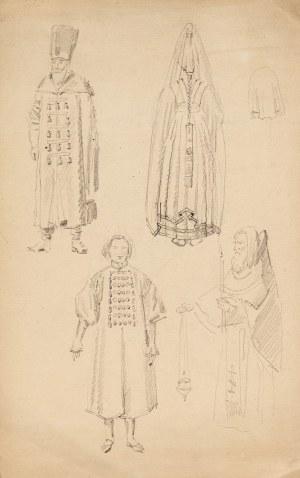 Józef Mehoffer (1869 Ropczyce - 1946 Wadowice), Szkice postaci, kon. XIX w.