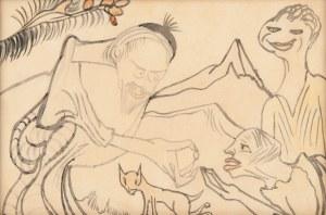 Stanisław Ignacy Witkiewicz (1885 Warszawa - 1939 Jeziory na Polesiu), Goldmann Baruch Teerbroom daje Ninie pigułkę, 1922