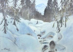 Adam Batycki (1886-1970), Pejzaż zimowy, 1960