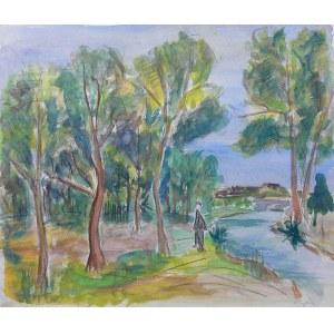 Henryk Epstein (1891 Łódź - 1944 Auschwitz), Pejzaż z rzeką