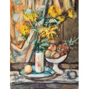 Zygmunt Menkes (1896 Lwów - 1986 Riverdale), Martwa natura z ananasem