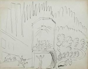 Leon Chwistek (1884 Kraków-1944 Barwisze k. Moskwy), Projekt scenografii - praca dwustronna