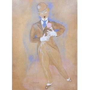 Henryk Berlewi (1894 Warszawa - 1967 Paryż), Projekt kostiumu aktora teatru Variete