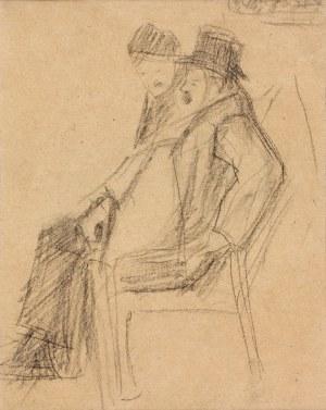 Artur Markowicz (1872-1934), Siedzący na krzesłach (praca dwustronna)