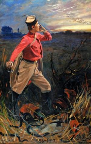 """Stanisław Fabijański (1865-1947), XXV Rocznica powstania Polskiego Towarzystwa Gimnastycznego """"Sokół"""" w Krakowie, 1910"""